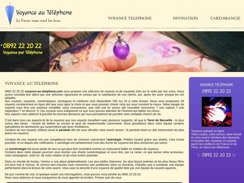 0892 22 20 22 Voyance Amour Belline