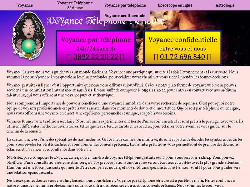 Voyance Amour Eternel 0892 22 20 22