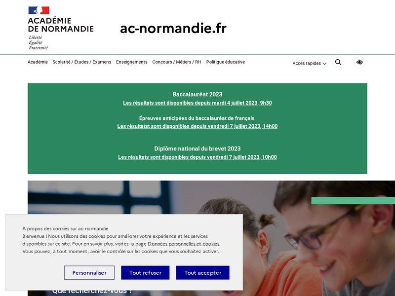 Académie de Rouen - Accueil