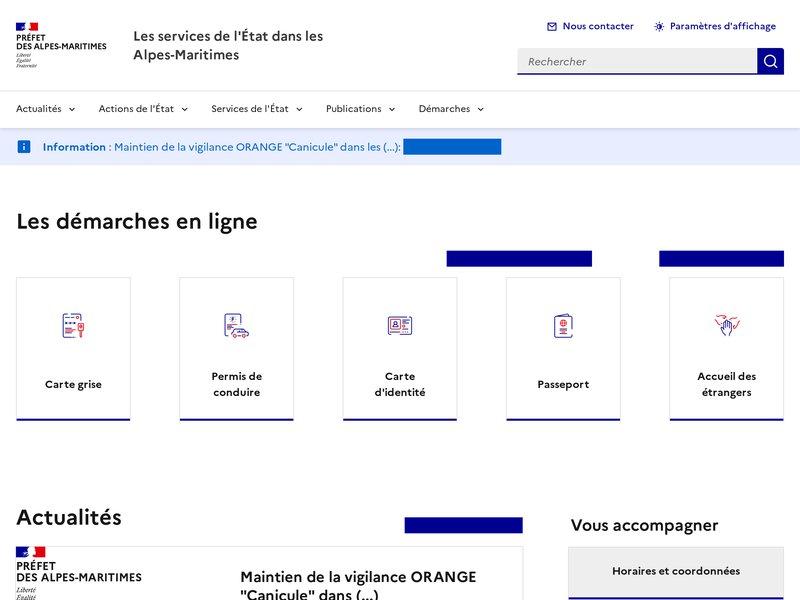 Les services de l'État dans les Alpes-Maritimes