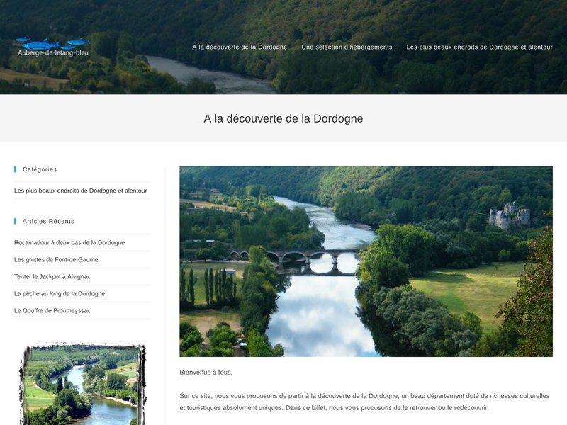 Auberge de l'Étang Bleu 24340 Vieux-mareuil Dordogne