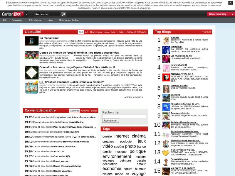 Blog gratuit - Cr... Centerblog