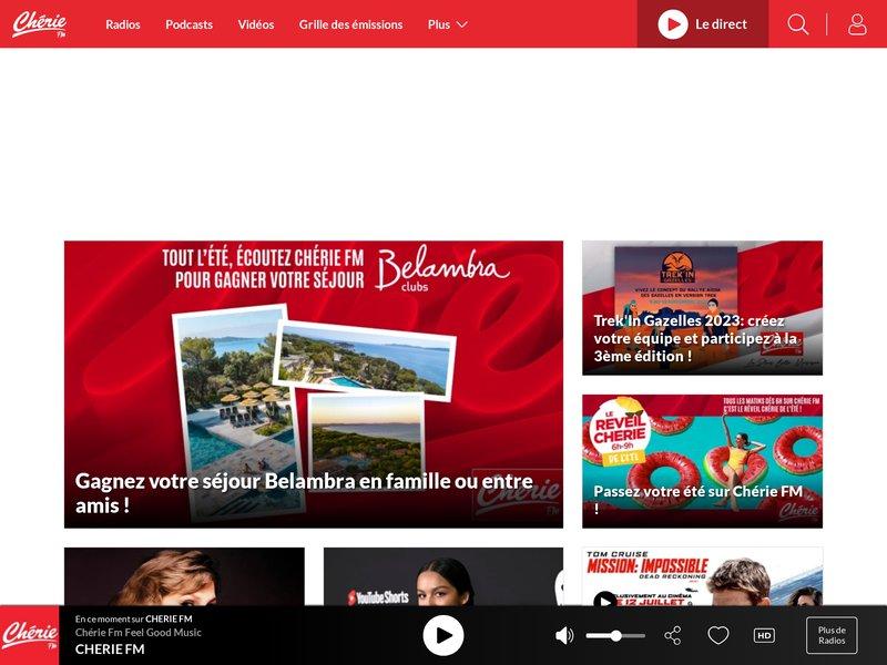 Chérie FM : POP LOVE MUSIC, radio FM en direct, webradios