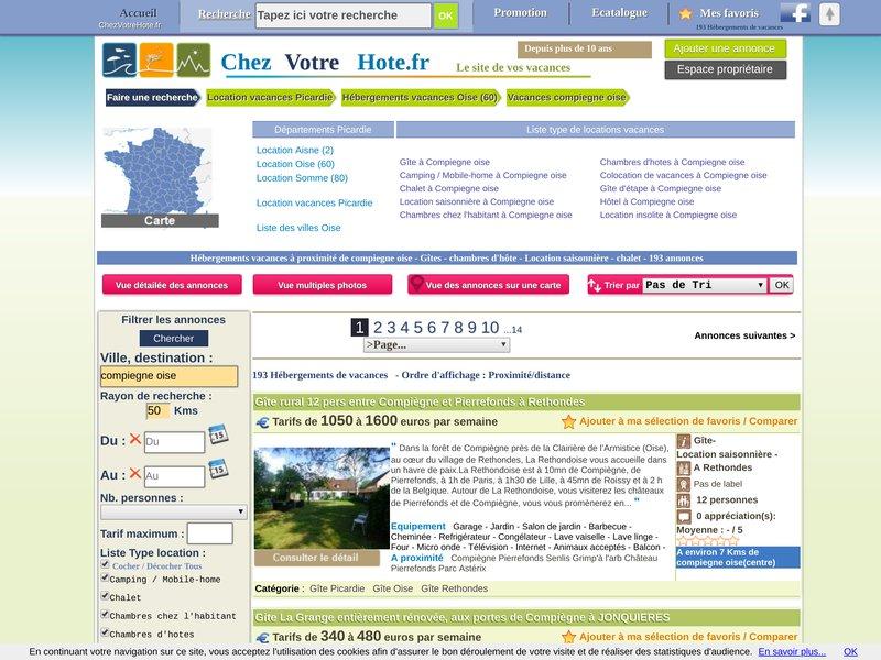 Séjour à Compiegne en Picardie (Oise)