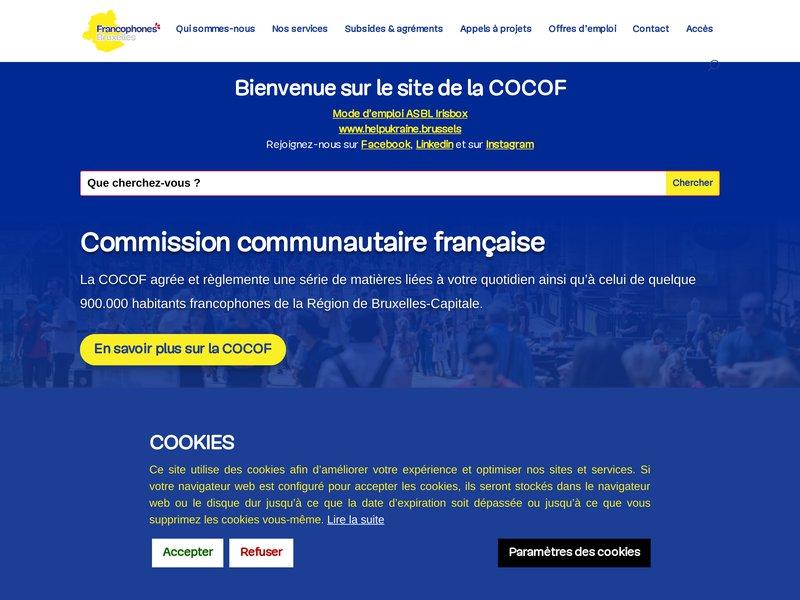 Cocof - Commission communautaire française - Enseignement