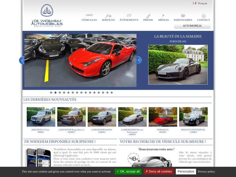 De Widehem Automobiles | vente de voitures de pre..