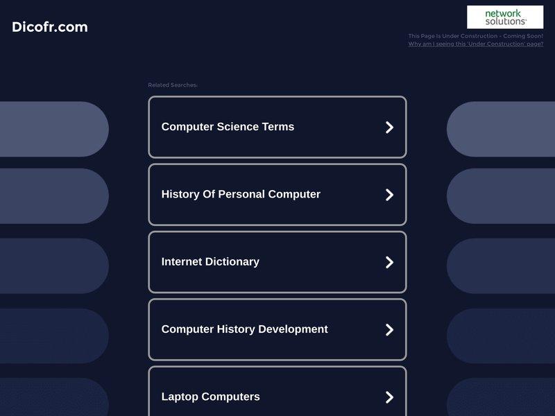 Dictionnaire de l'informatique et d'internet - DicoFR