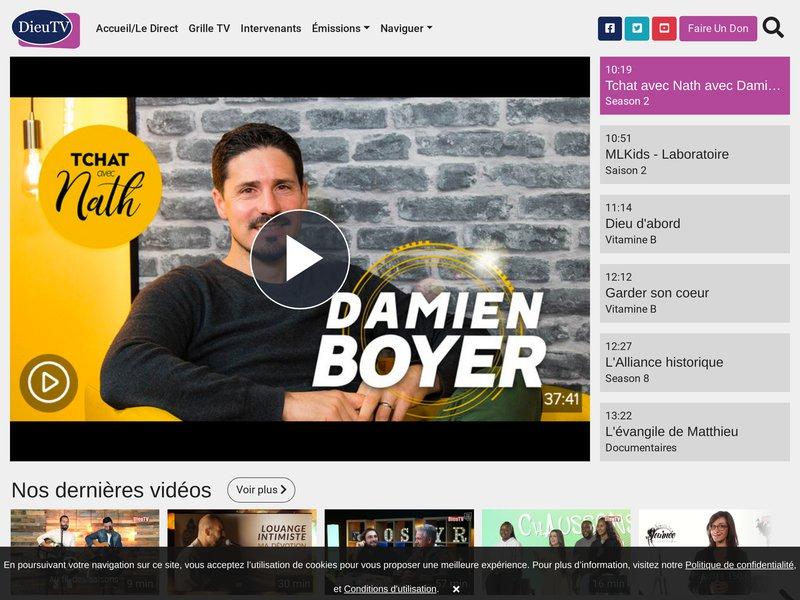 DieuTV.com : La télévision chrétienne francophone en direct 24h/24