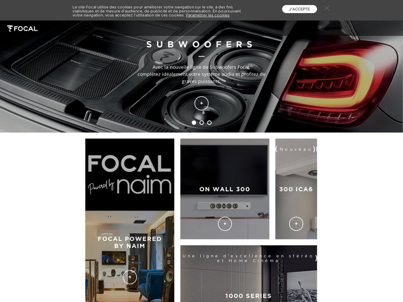 Focal : enceintes acoustiques et haut-parleurs hifi haut de gamme