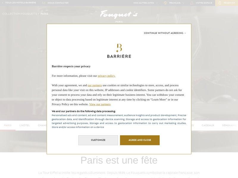 Hôtel Fouquet's Barrière *****