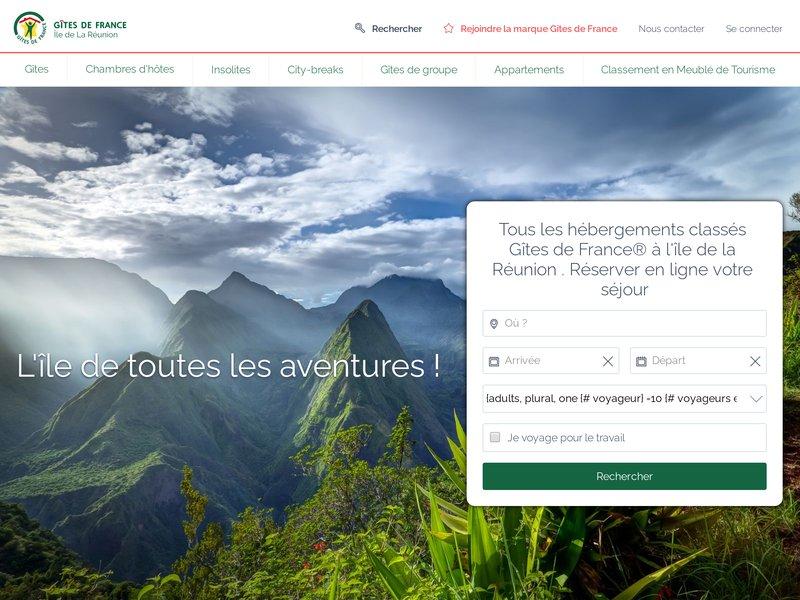 Relais Départementale des Gites de France, ile de la Réunion, Chambres d'hôtes, Gîtes ruraux