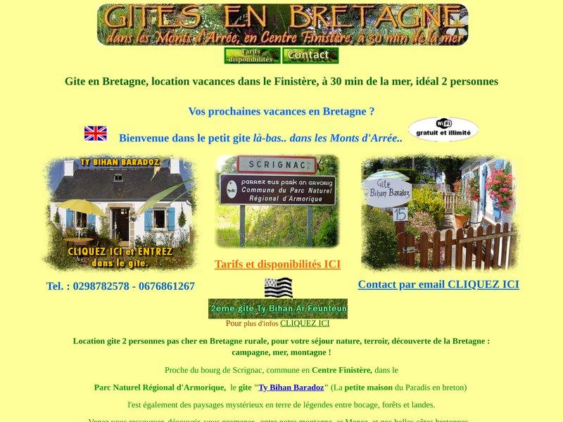 Gite Bretagne, avec cheminée, idéal 1 ou 2 personnes