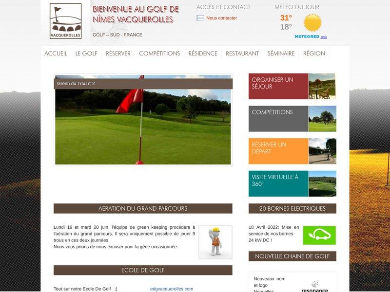 Golf Nîmes Vacquerolles