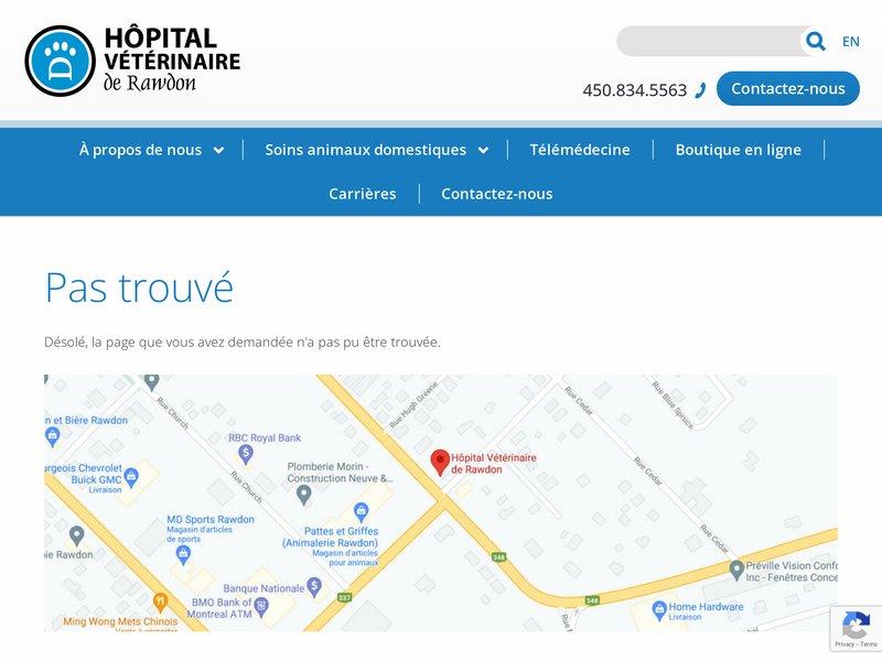 Hôpital Vétérinaire de Rawdon | Accueil