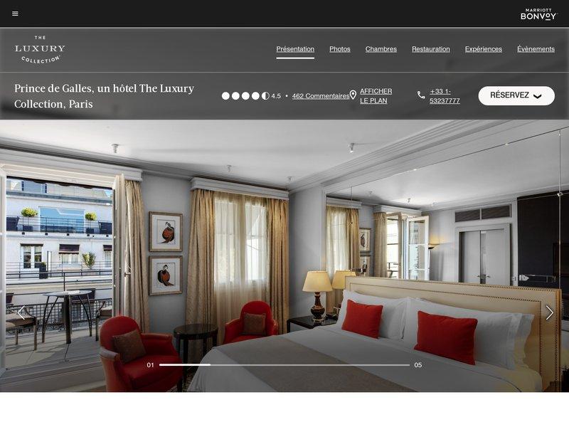 Prince de Galles Hôtel ****