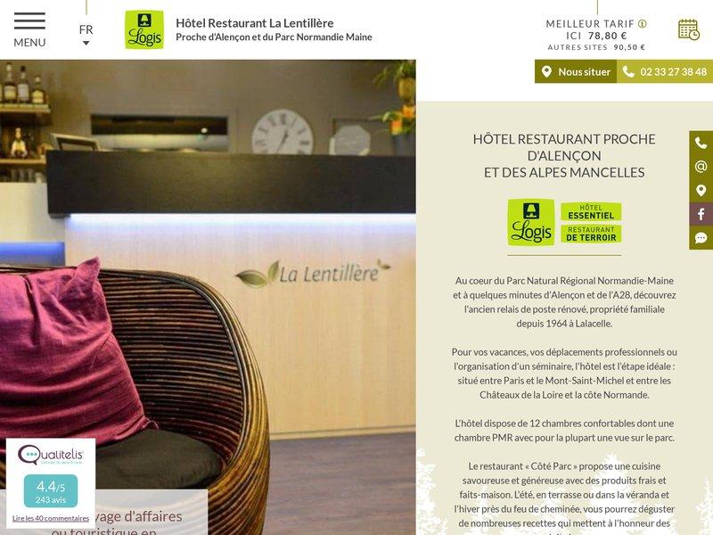 La Lentillère Hôtel restaurant 61320 Lalacelle Orne