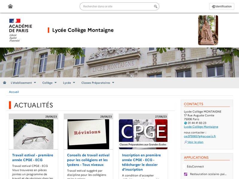 Lycée Montaigne (Paris, VIème arrondissement)