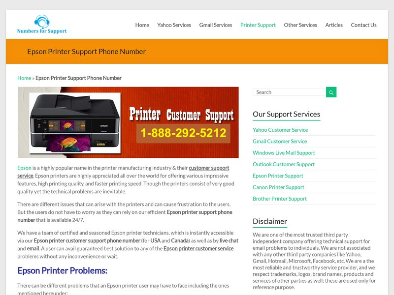 Epson Printer Technical Support Phone Number