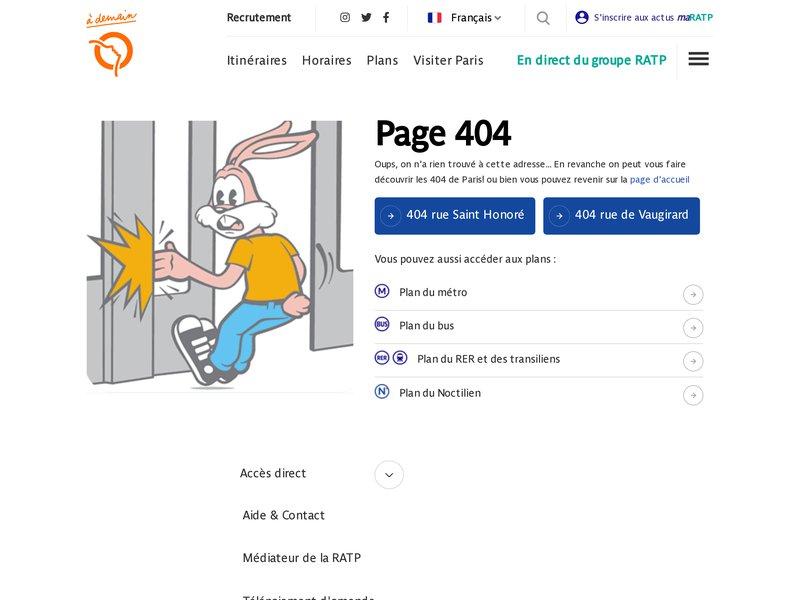 ratp.fr - Contacts