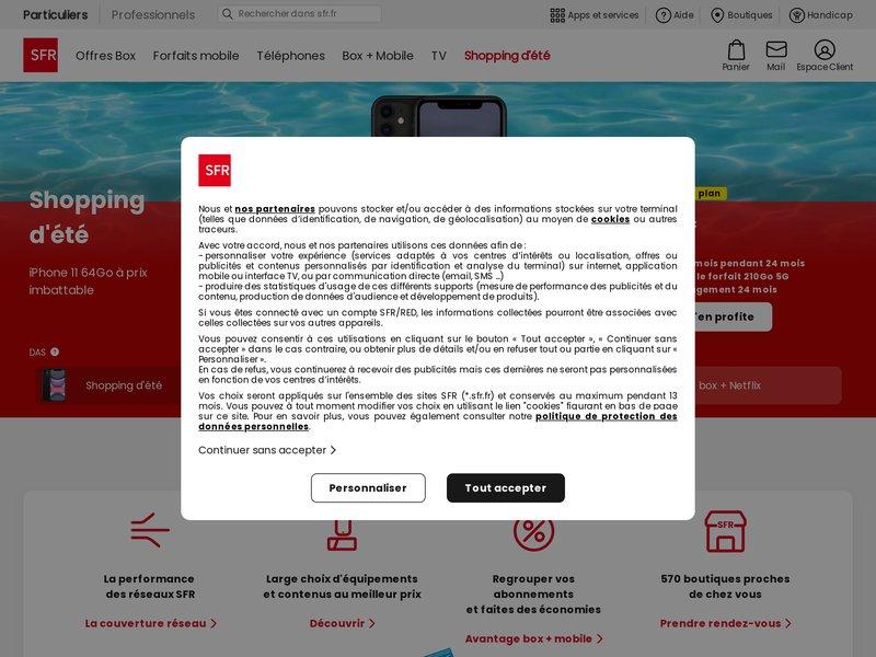 SFR | Téléphone, Forfait, Offres Inte..