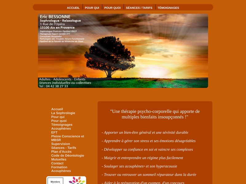 Sophrologie sur la ville d'Aix en Provence