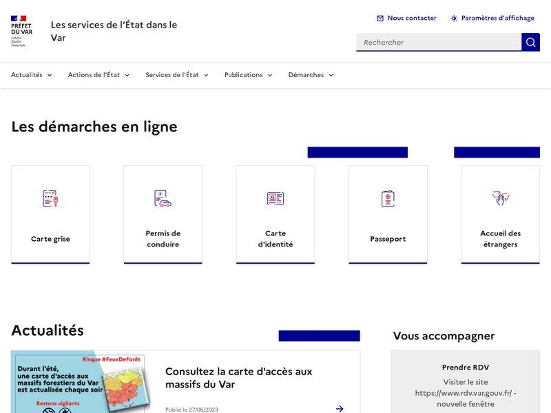 L'Etat dans le Var - Préfecture de Toulon (83)