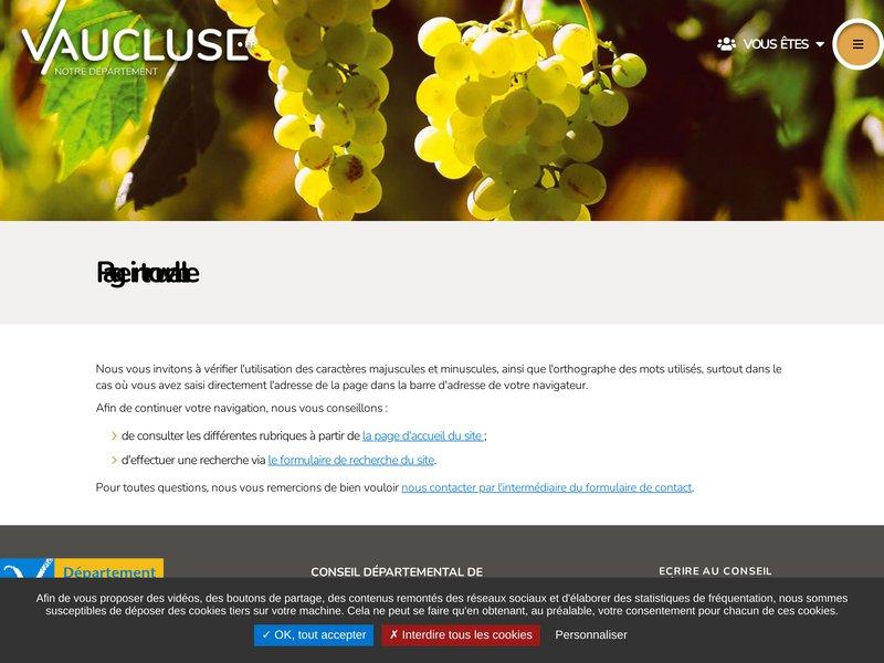 Département de Vaucluse ; action sociale