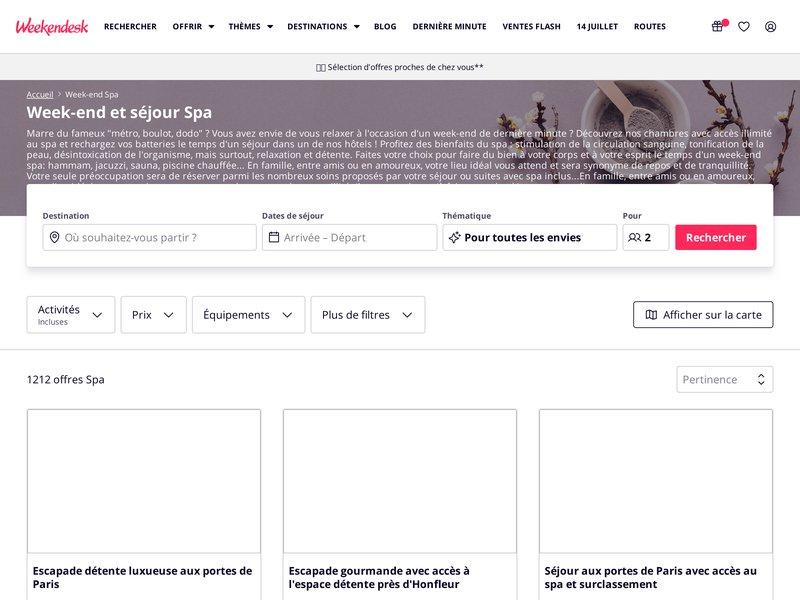 Weekendesk.fr - Réserver un Spa