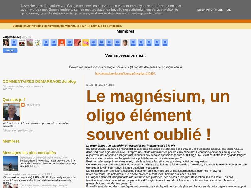 Arnaud Veto: Le magnésium, un oligo élément souvent oublié !