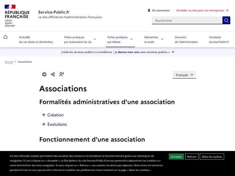 Accueil Associations | service-public.fr